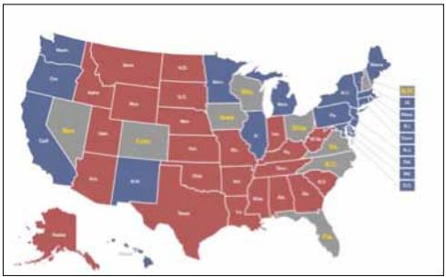 mapa electoral de los estados unidos